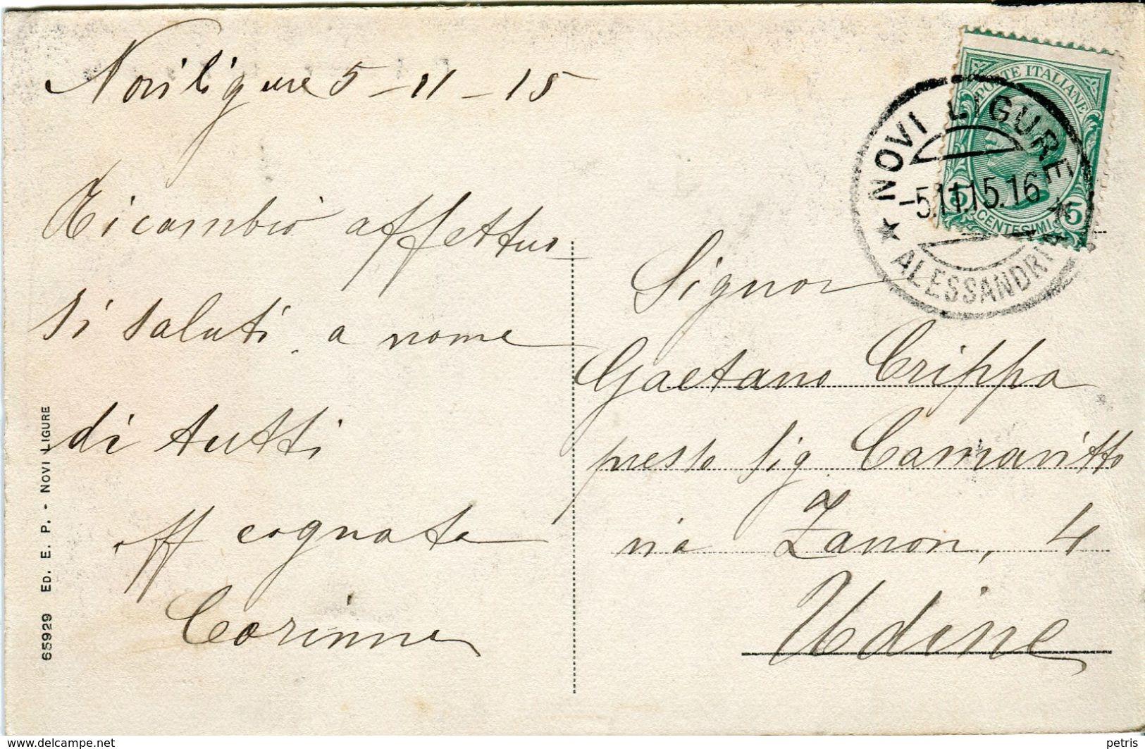 Novi Ligure. Via Alessandria, 1915 - Lot.1344 - Alessandria