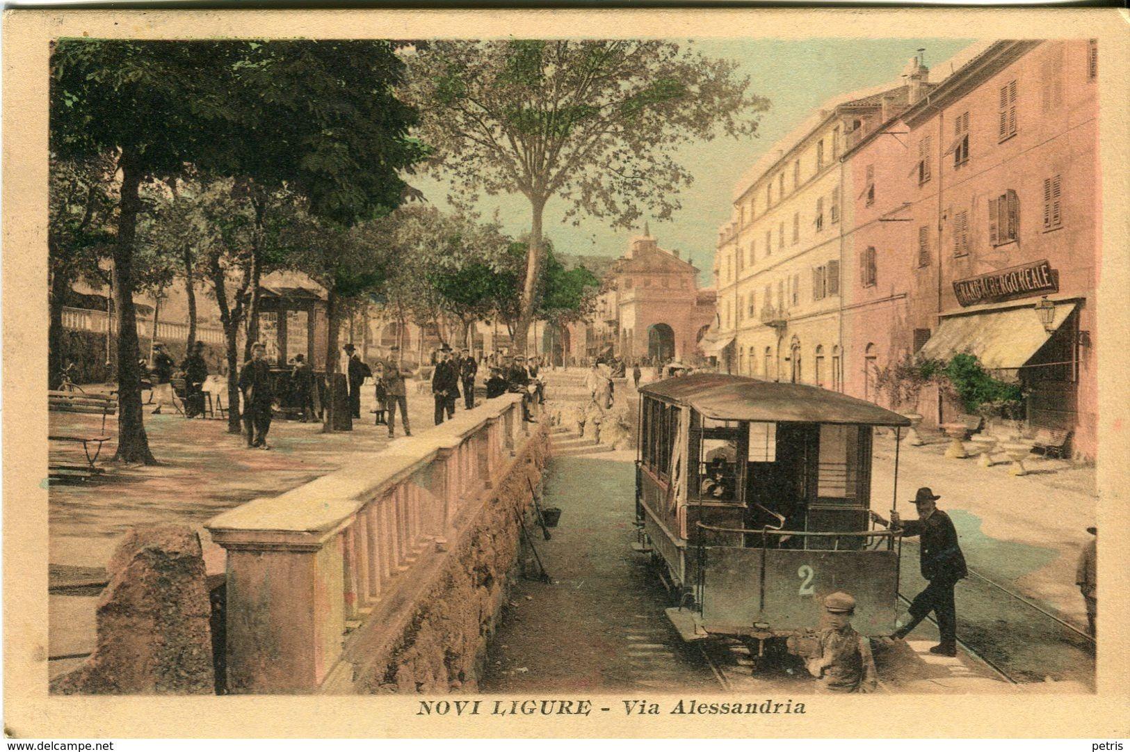 Novi Ligure. Via Alessandria, 1915 - Lot.1350 - Alessandria