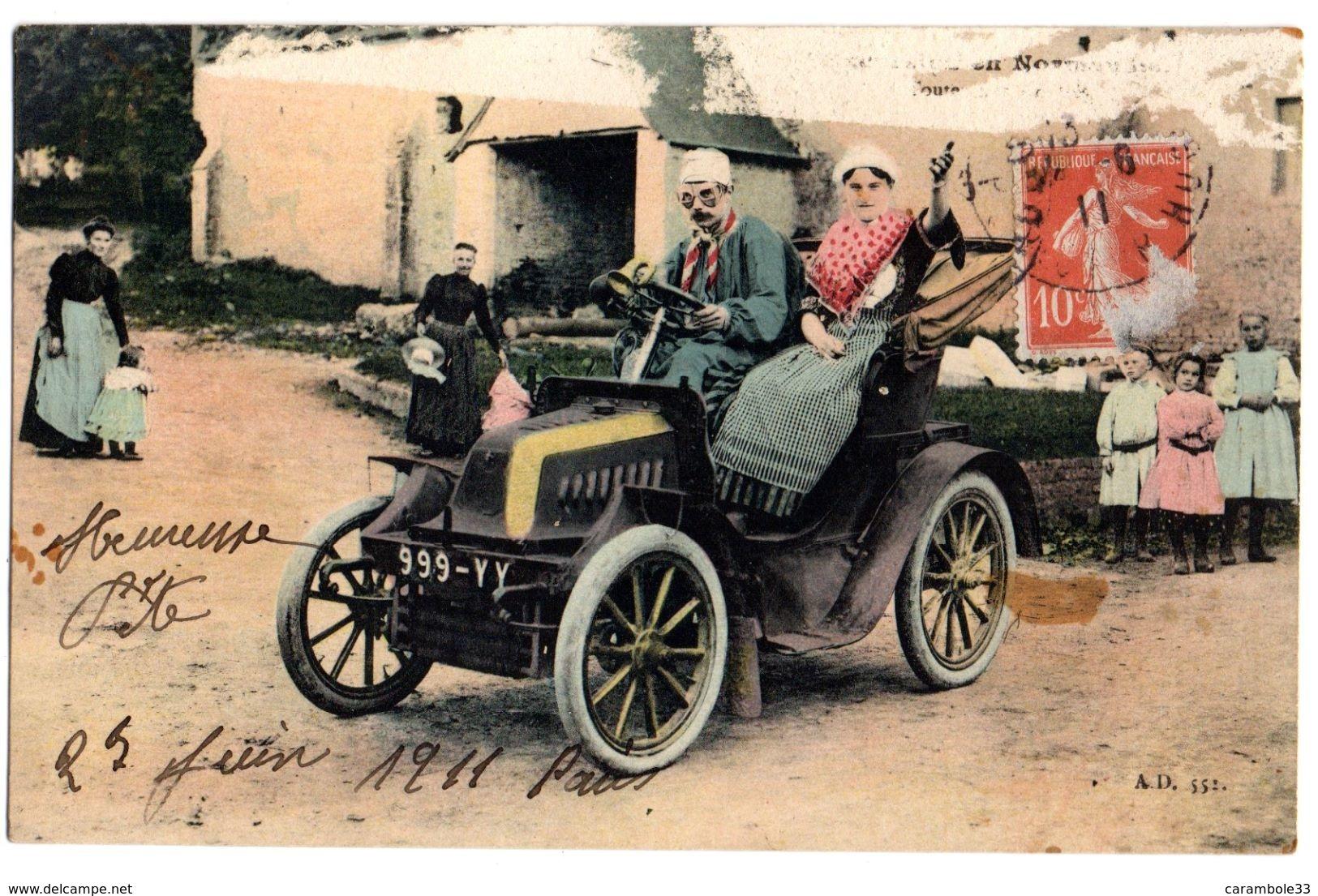 CPA  VOITURE AUTOMOBILE Vers 1911 Partie Supérieure Dégradée  Voir Scan  10944 - Voitures De Tourisme