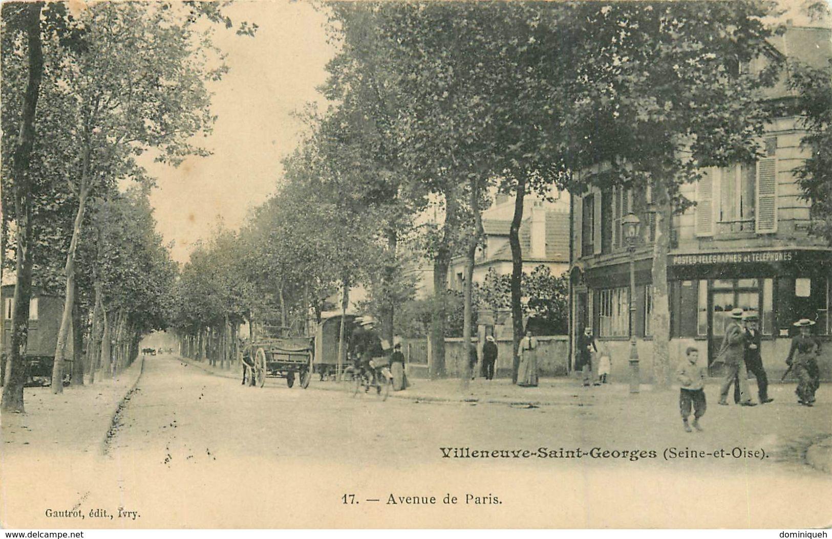 Lot De 50 CPA De Villeneuve-Saint-Georges 94 Plusieurs Animations - Cartes Postales