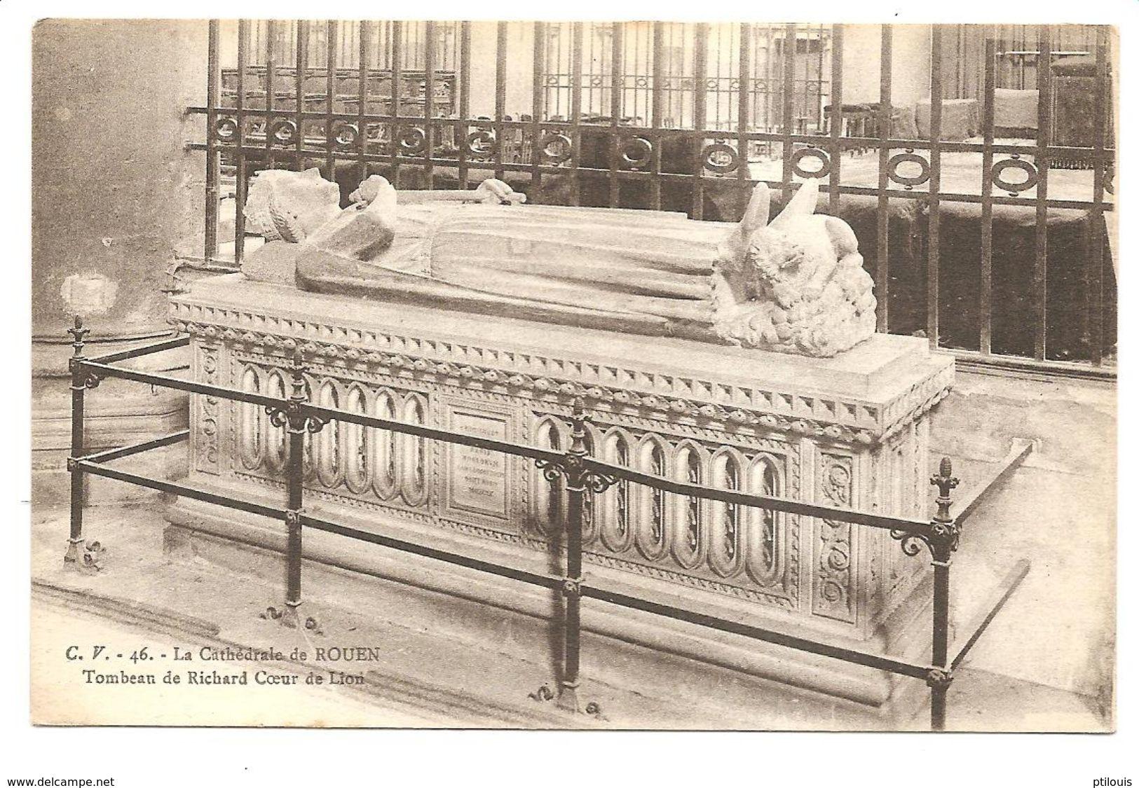 CV 46 -ROUEN - Cathédrale - Tombeau De Richard Coeur De Lion - (C.V.) - Rouen