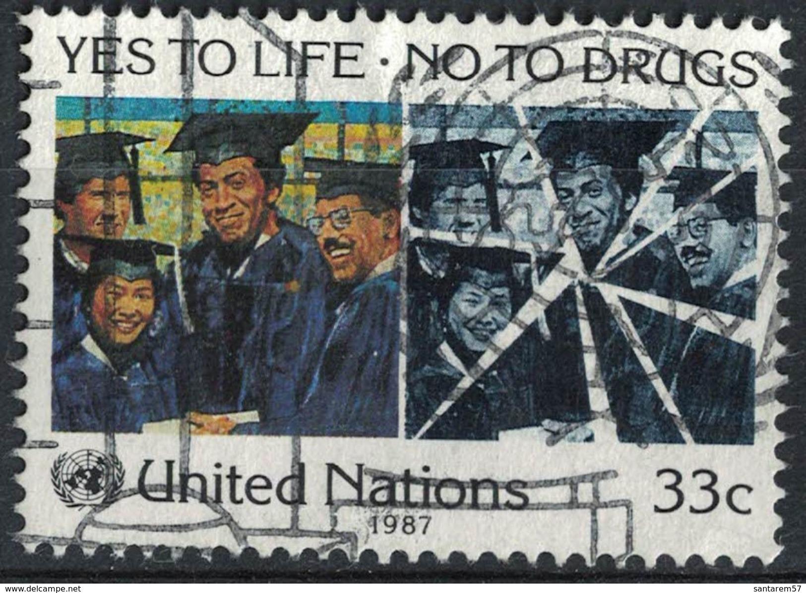 Nations Unies 1987 Oblitéré Used Yes To Life No To Drugs Oui à La Vie Non Aux Drogues SU - Oblitérés