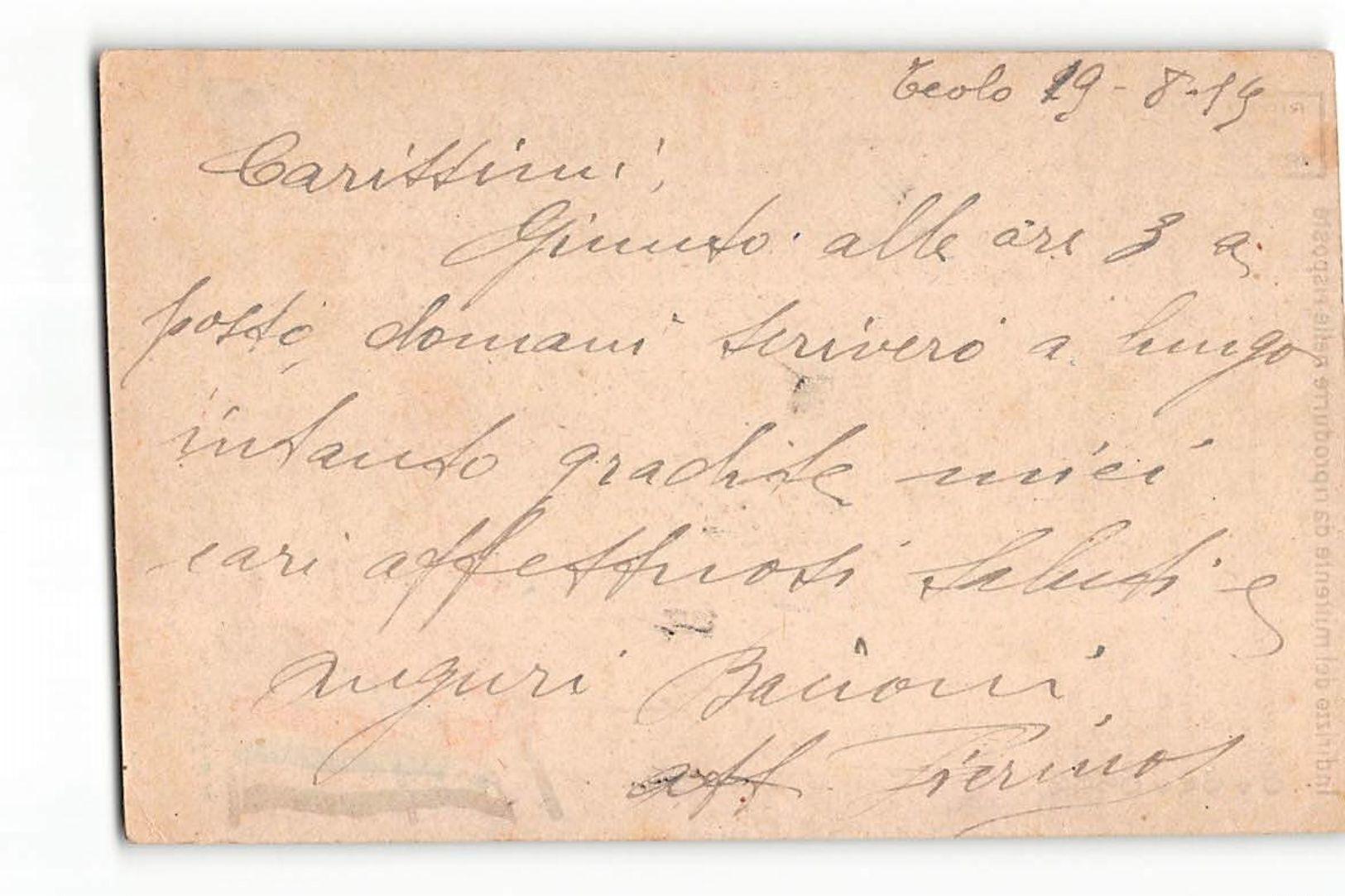 16154  FRANCHIGIA TEOLO 14 AUTOREPARTO DI MARCIA X MILANO - 1900-44 Vittorio Emanuele III