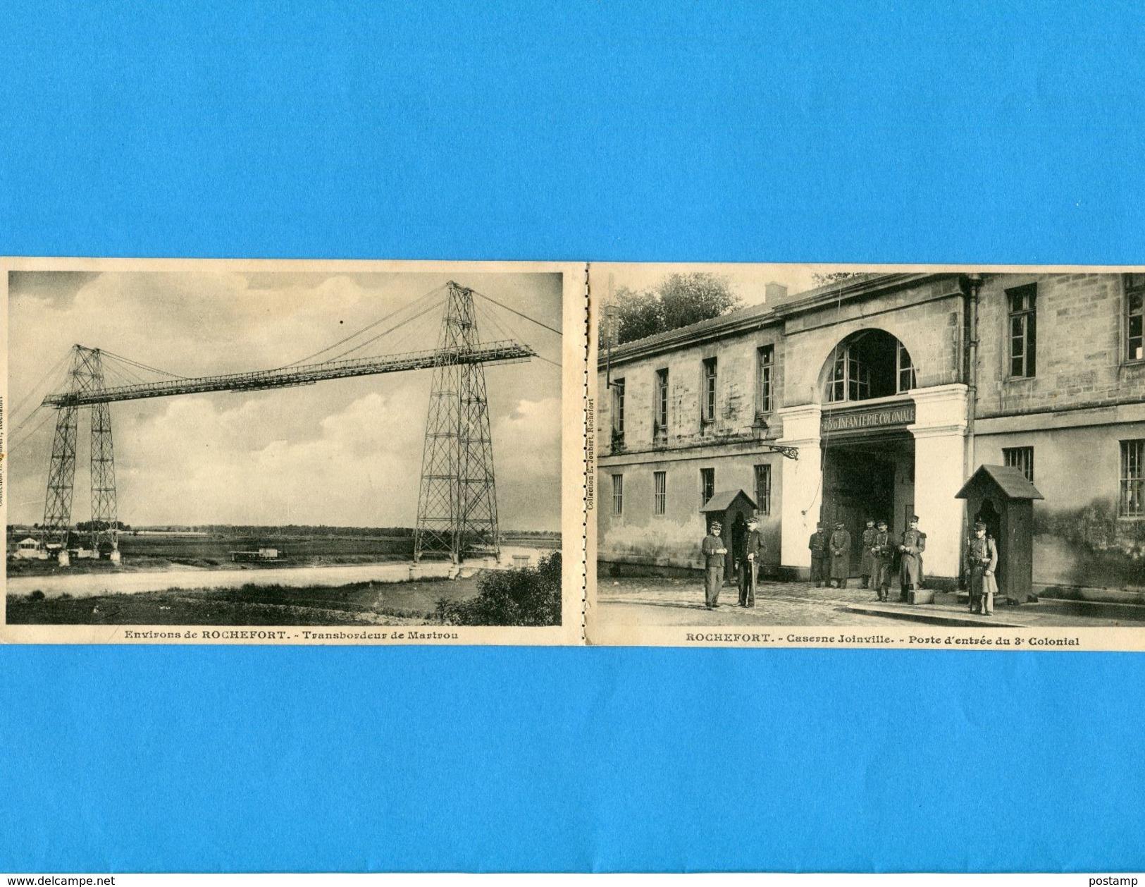"""ROCHEFORT -Carte 2-vues-recto-verso- Correspondance Sur Papier Intérieur  -animée -a Voyagé"""" En1900-édition Joubert - Rochefort"""
