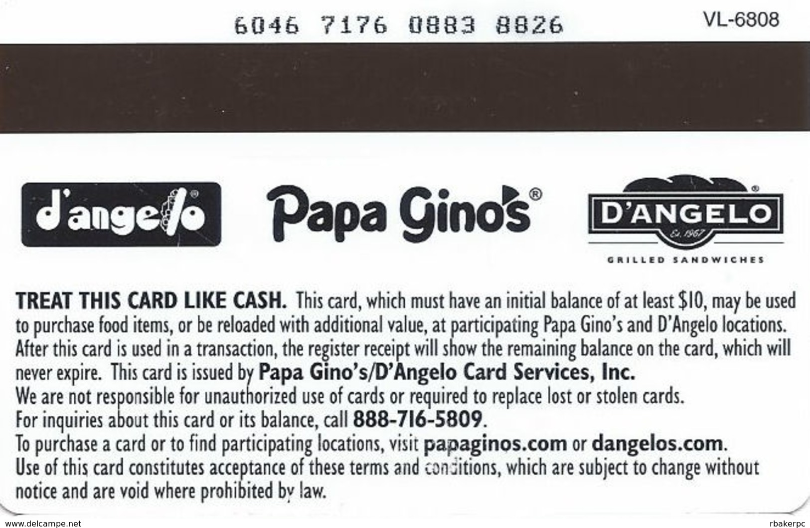 Papa Gino's / D'Angelo Gift Card - Gift Cards