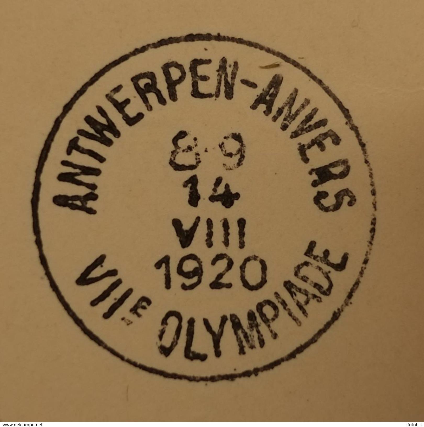 Poststempel Antwerpen+-Anvers VIIe Olympiade 1920. - Belgique