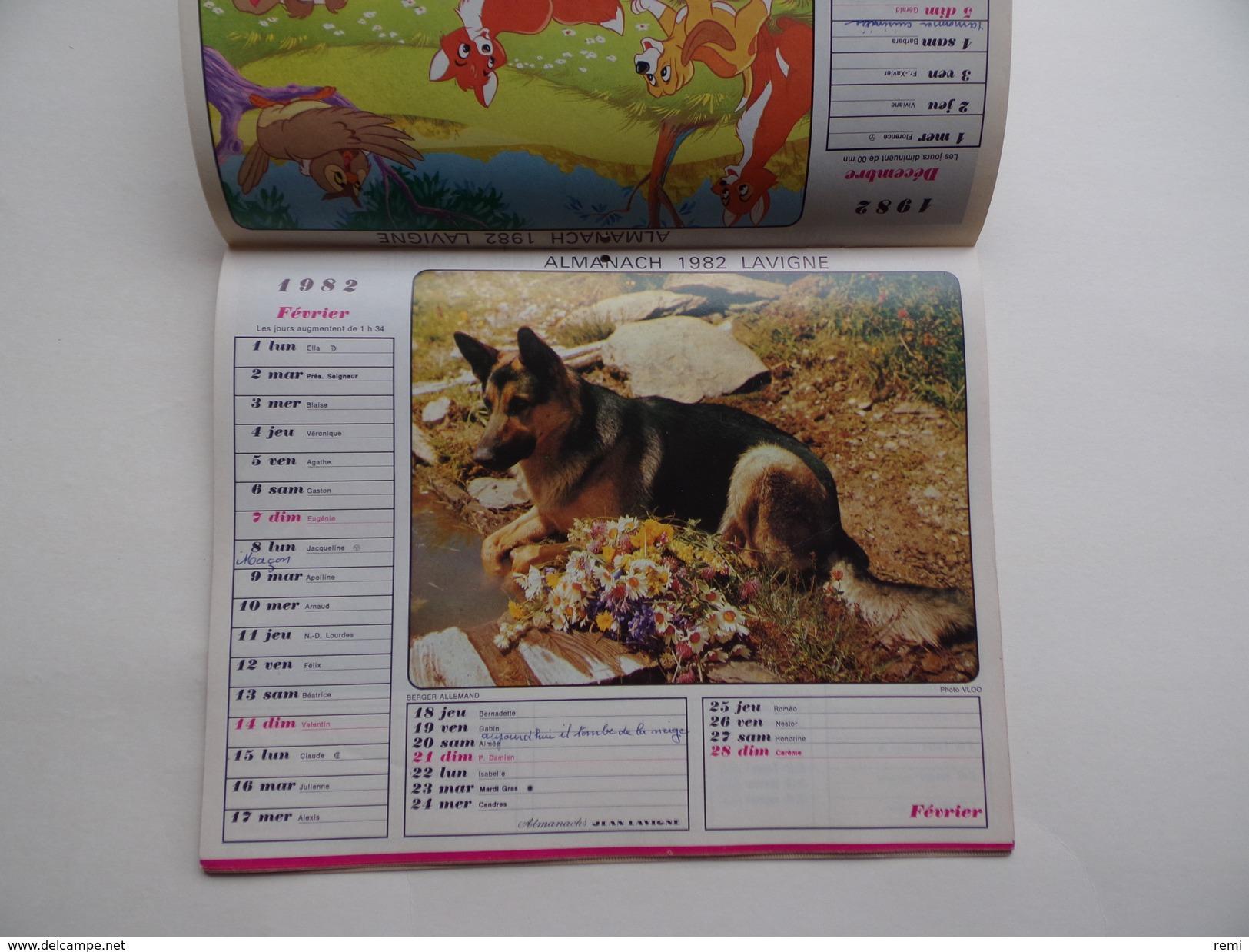 CALENDRIER P.T.T. POSTE POSTES 1982 ALMANACH CALENDAR KALENDER Scène Agricole Agriculture Attelage Mouton Berger - Calendars