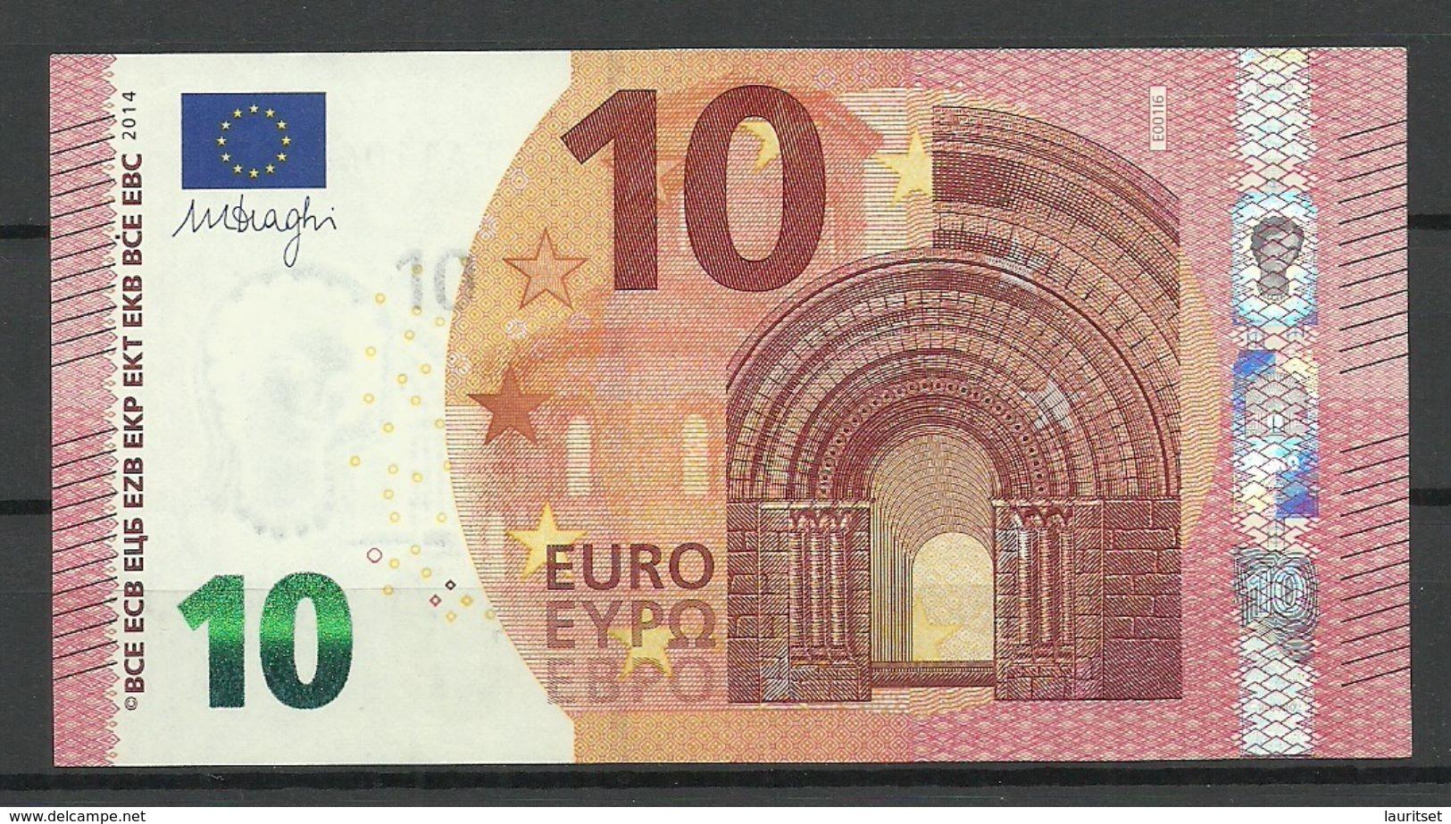 SLOVAKIA 10 EUR 2014 E-Serie Banknote - EURO