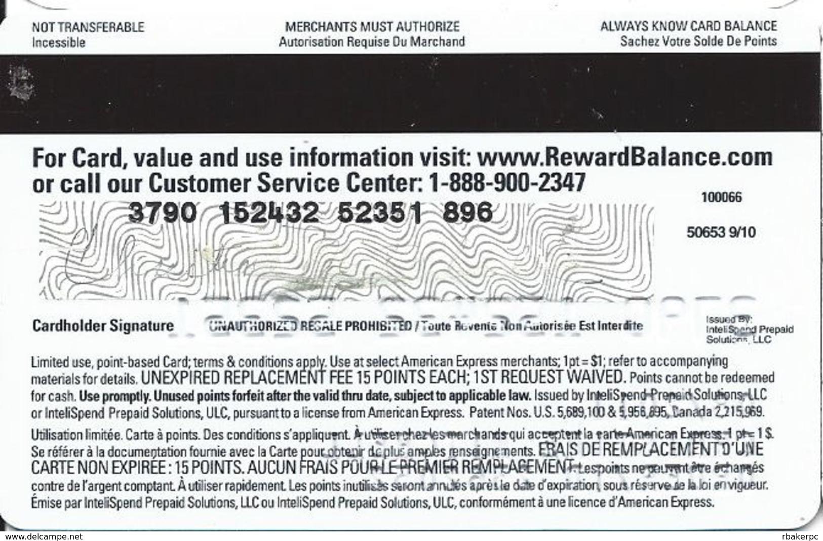 Ipsos I-Say 15 Point Prepaid Reward Card / America Express - Gift Cards