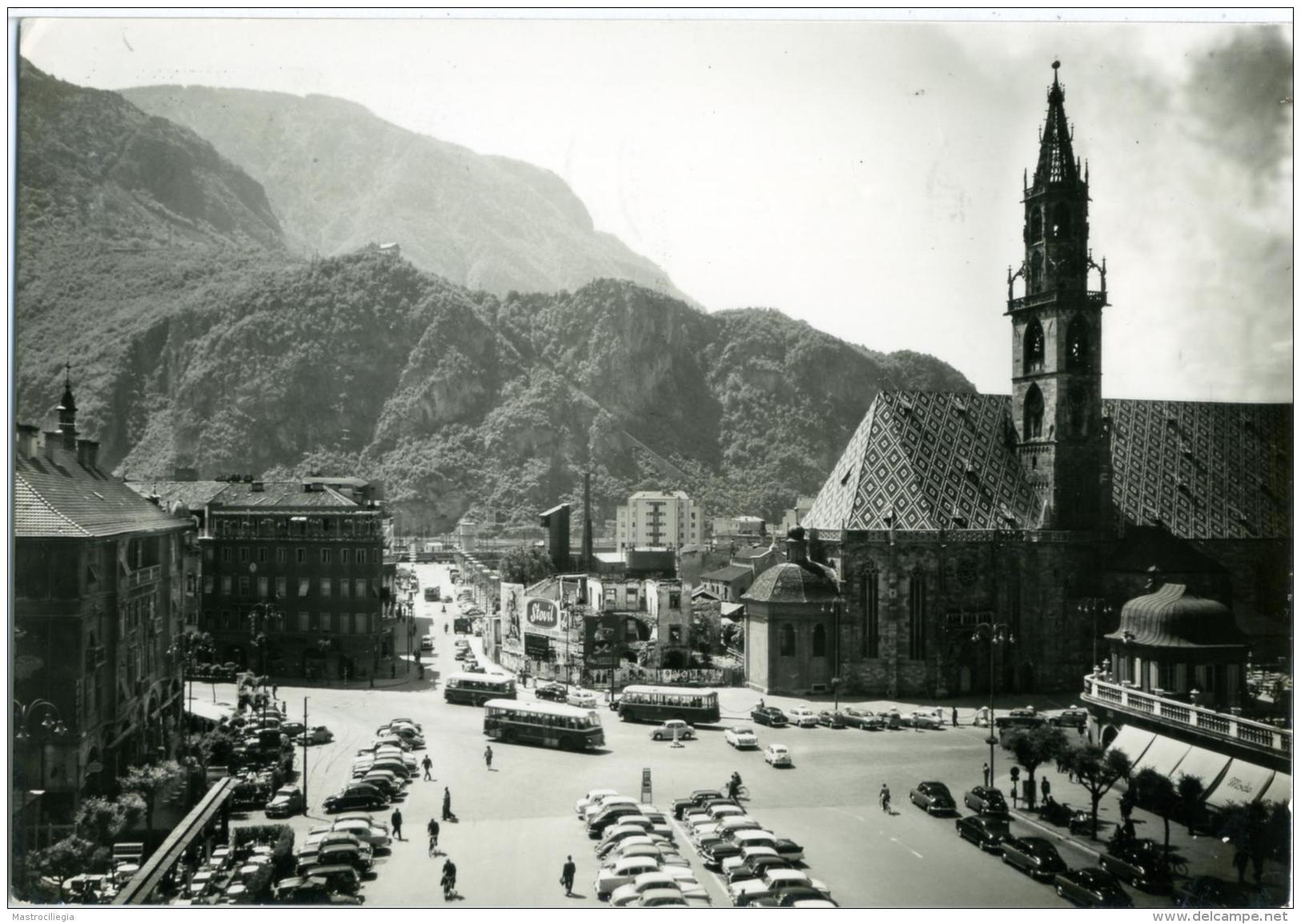BOLZANO  Piazza Walter E Parrocchia  Annullo A Targhetta Fiera Di Bolzano 1956 - Bolzano