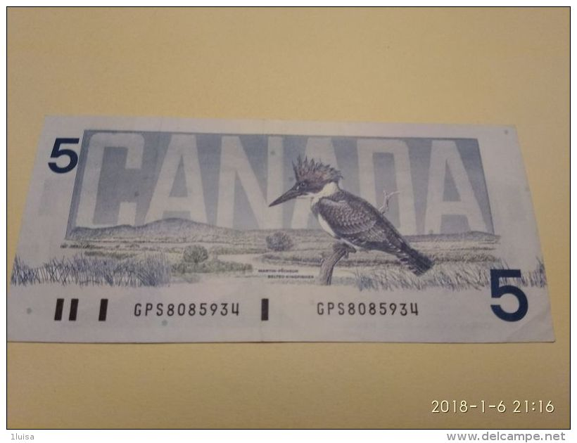 5 Dollars 1986 - Canada