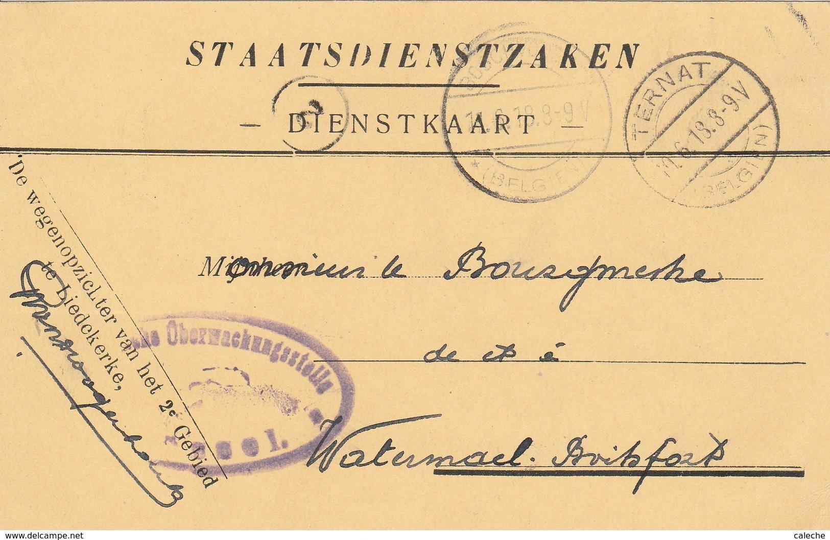 Staatsdienstzaken Ternat - Guerre 14-18