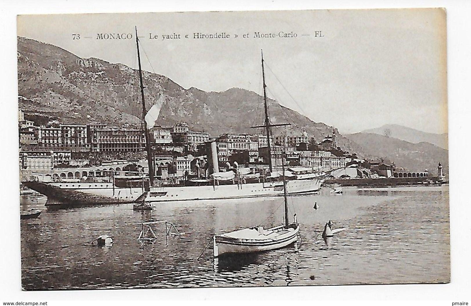 CPA Monaco Le Yatch Hirondelle Et Monté-Carlo - Harbor