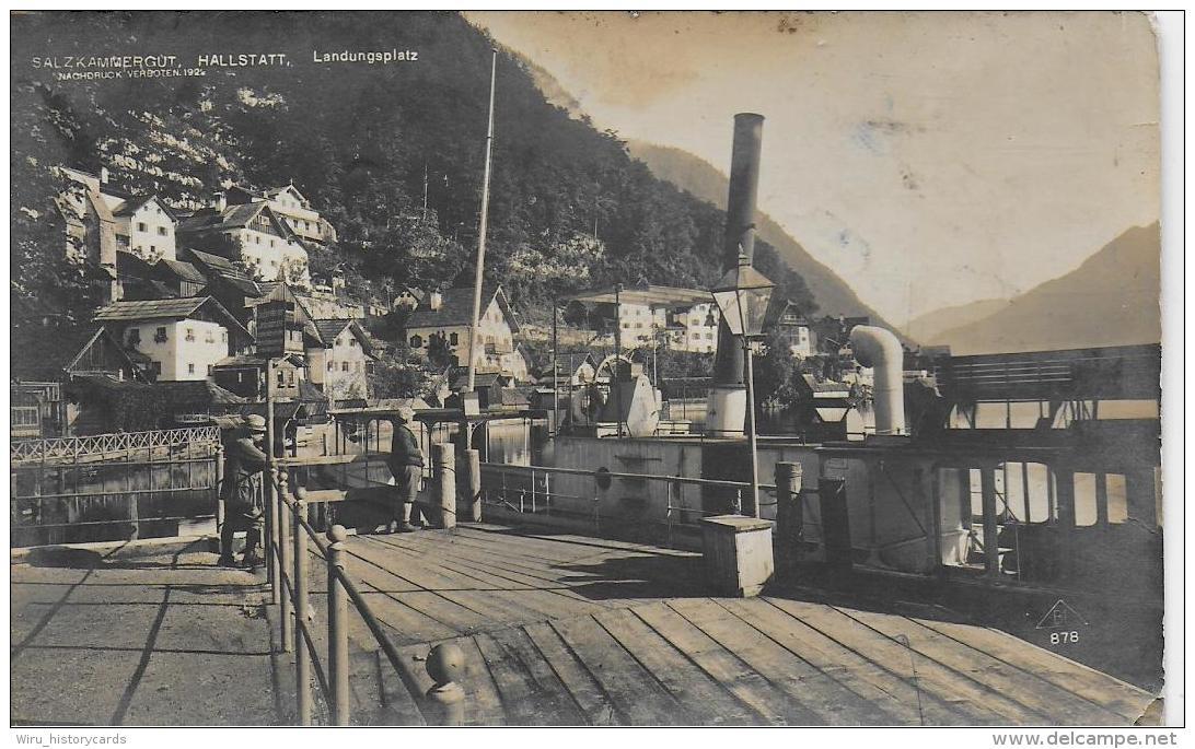 AK 0819  Hallstatt - Landungsplatz ( Dampfer ) - Verlag Brüder Lenz Um 1927 - Hallstatt