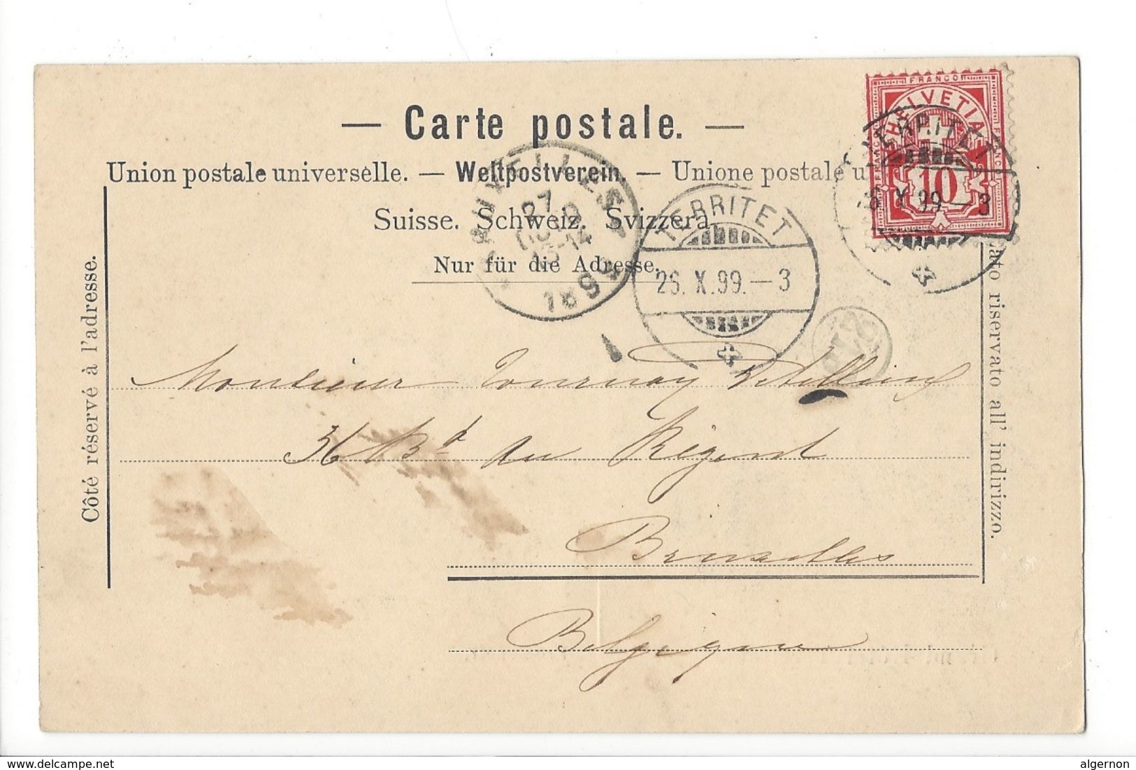 18976 - Grand Hôtel Territet Promenoir Circulée En 1899 - VD Waadt