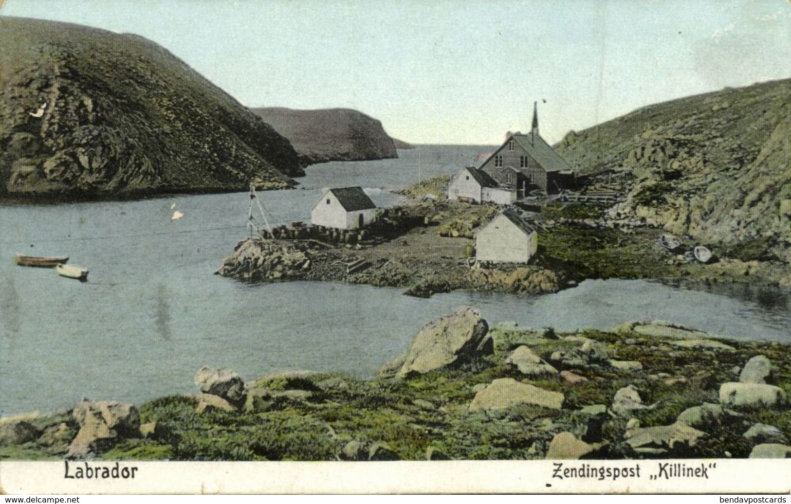 Canada, LABRADOR, Killinek Mission Station (1910s) Moravian Mission Postcard - Terre-Neuve & Labrador