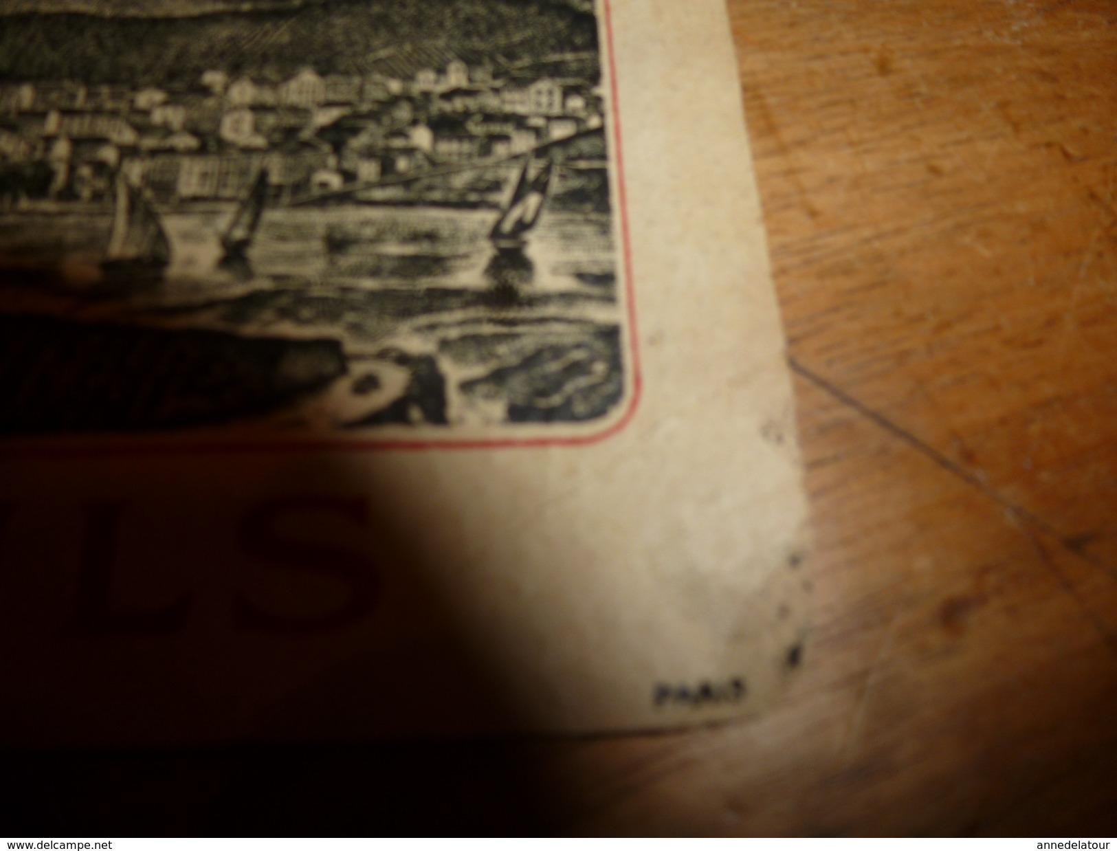 1920 ? Spécimen étiquette De Vin De BANYULS N° 991  ,déposé, Imp. G.Jouneau  3 Rue Papin à Paris - Bateaux à Voile & Voiliers