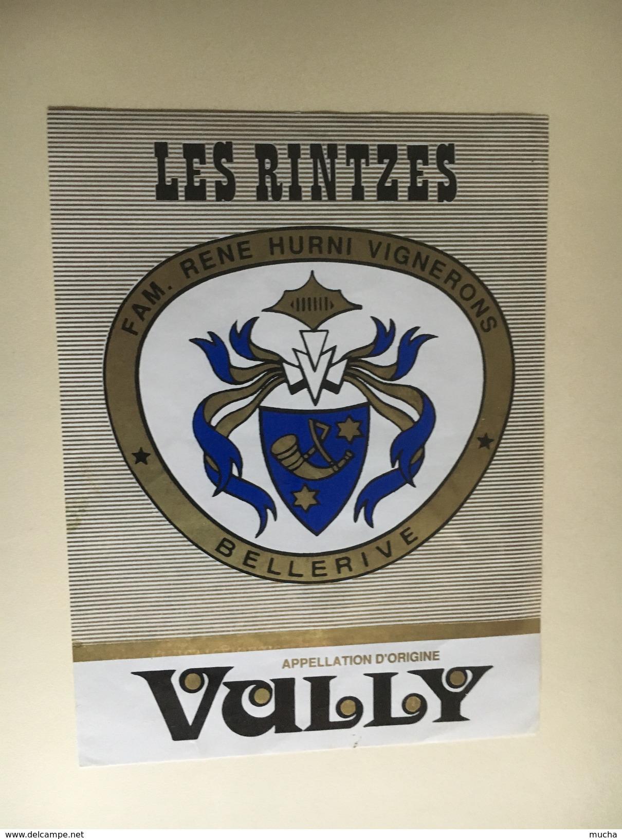 6384 - Vully Les Rintzes René Hurrni Bellerive Suisse Petite étiquette - Etiketten