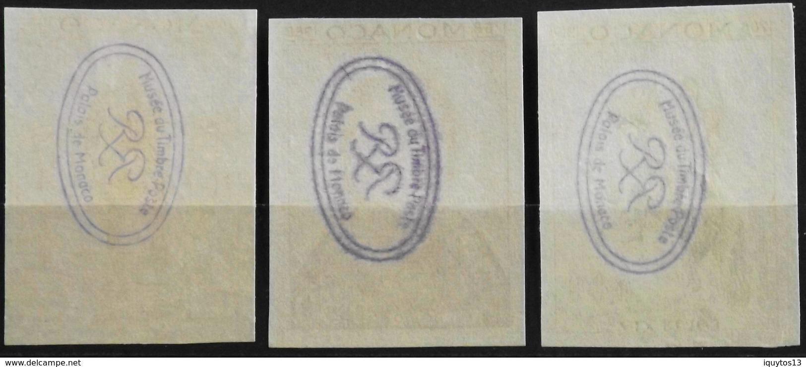 MONACO 1968 - Série BOSIO N° 765 -766 - 767 - 3 Timbres NON DENTELE GOMME - Parfait Etat - Monaco