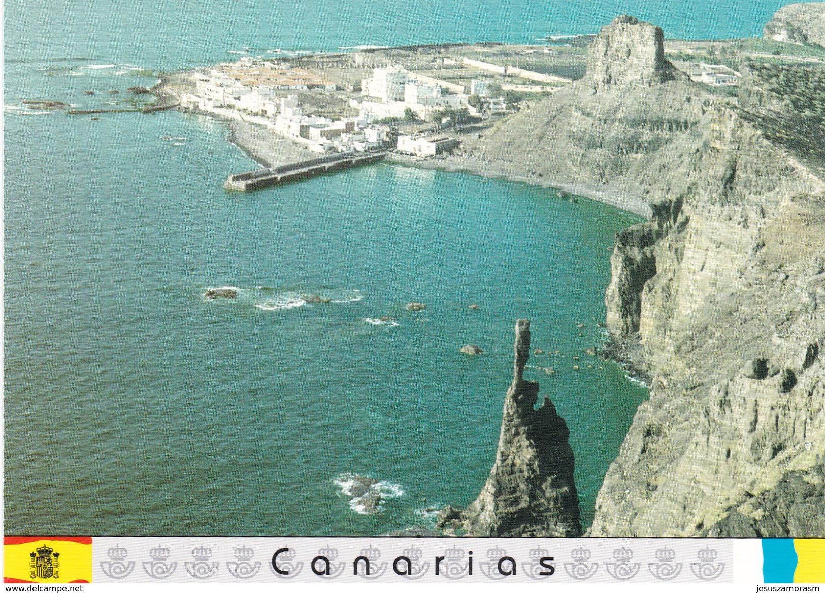 España Tarjetas De Correos Canarias Juego Completo Usadas - Enteros Postales