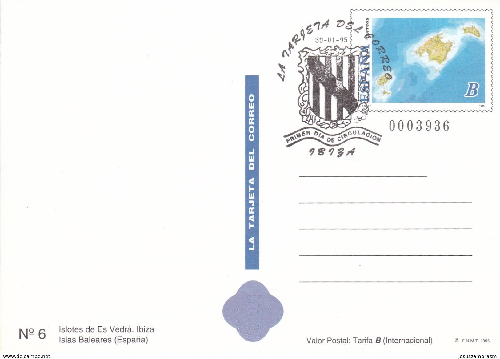 España Tarjetas De Correos Baleares Juego Completo Usadas - Enteros Postales