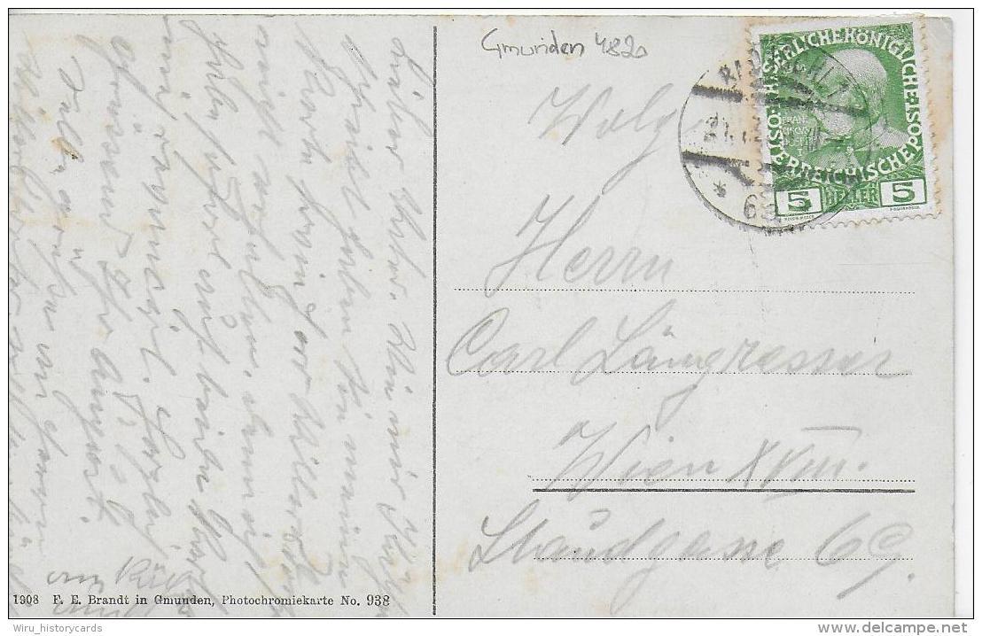 AK 0820  Bad Ischl - Partie Bei Der Evang. Kirche / Verlag Brandt Um 1908 - Bad Ischl