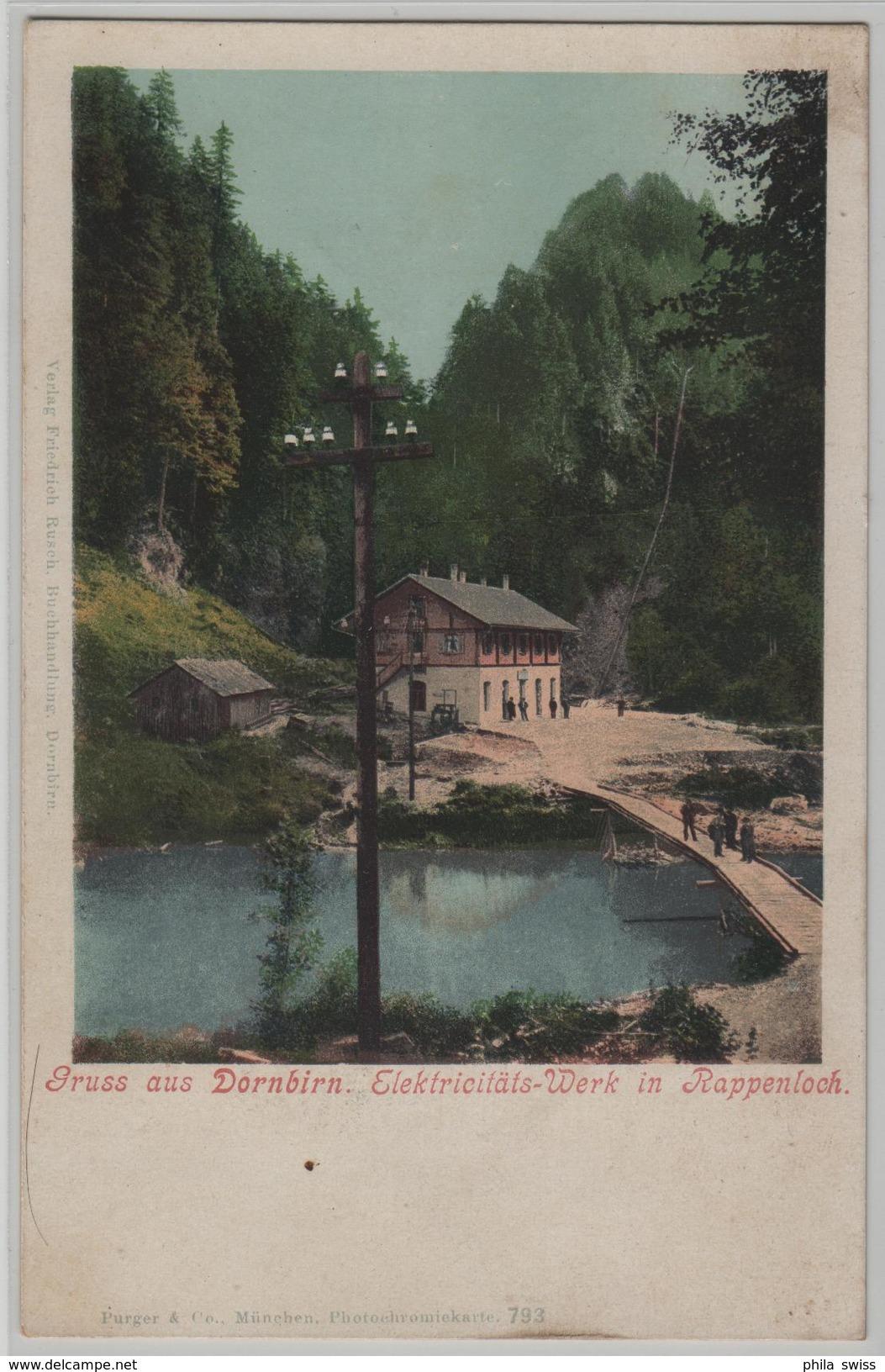 Gruss Aus Dornbirn - Elektrizitäts-Werk In Rappenloch - Photo: Purger - Dornbirn