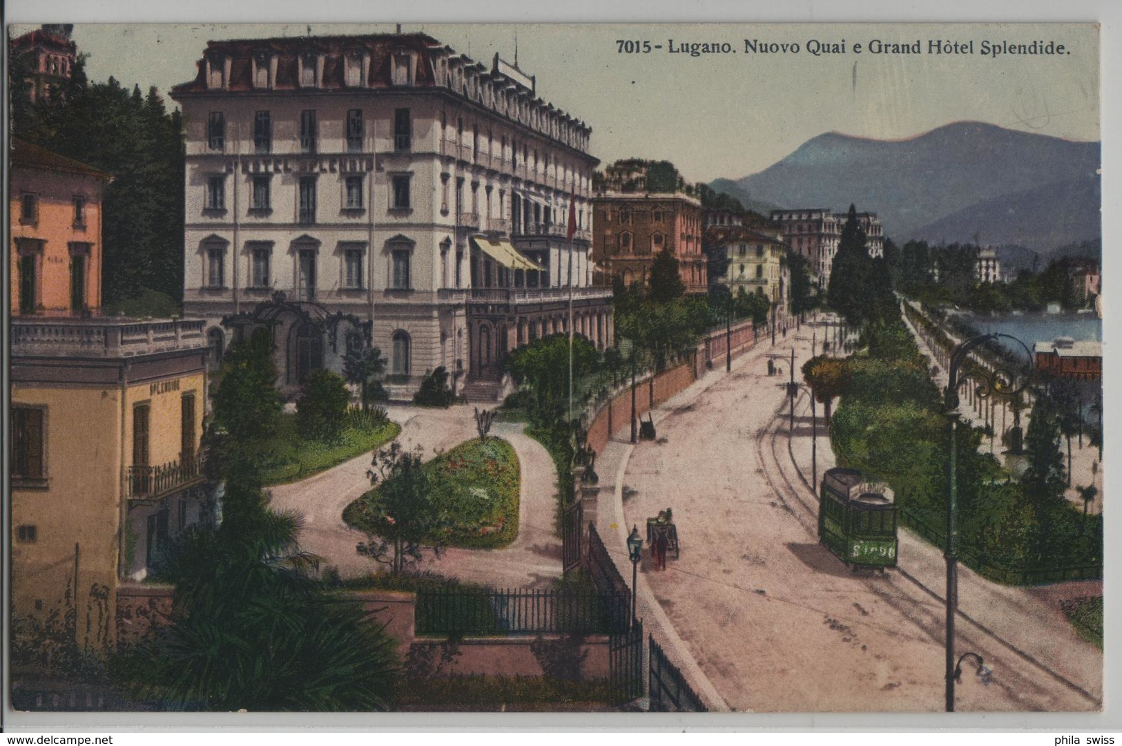 Lugano - Nuovo Quai E Grand Hotel Splendide - Tram Globus, Animee - TI Tessin
