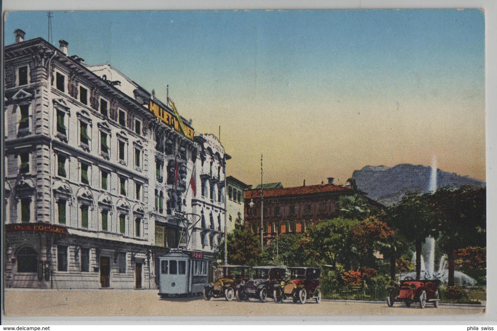 Lugano - Giardino Pubblico - Tram, Oldtimer - TI Tessin