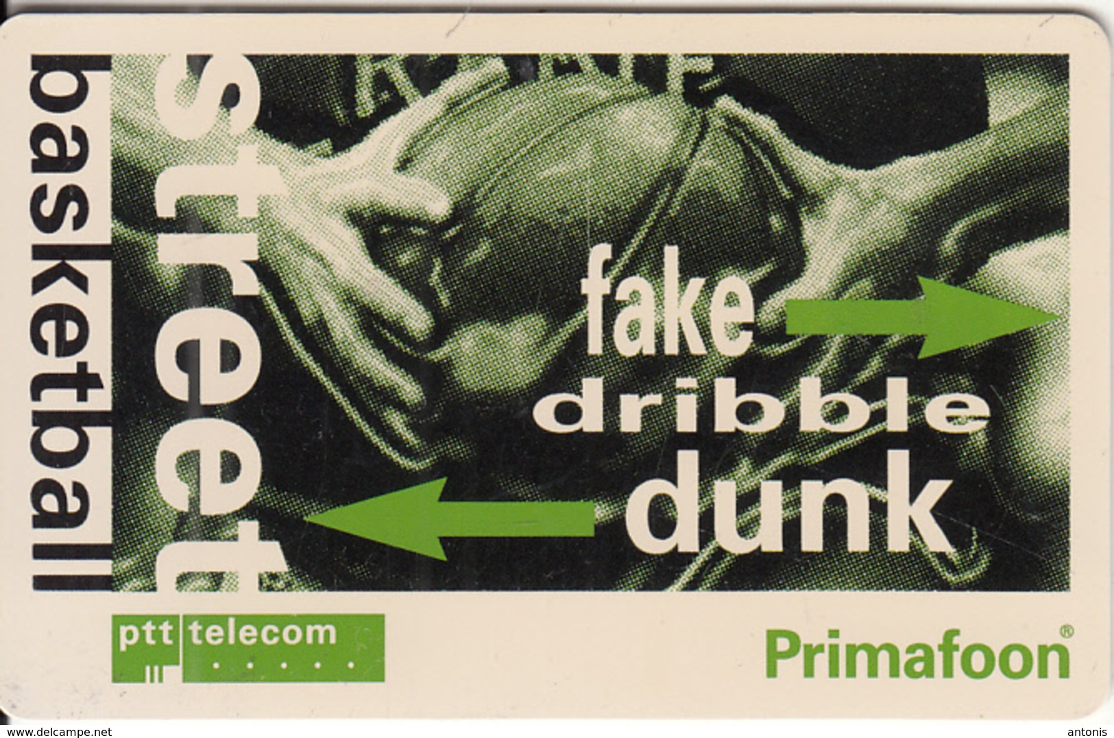 NETHERLANDS(chip) - Street Basketball, Tirage 4455, Used - Paesi Bassi