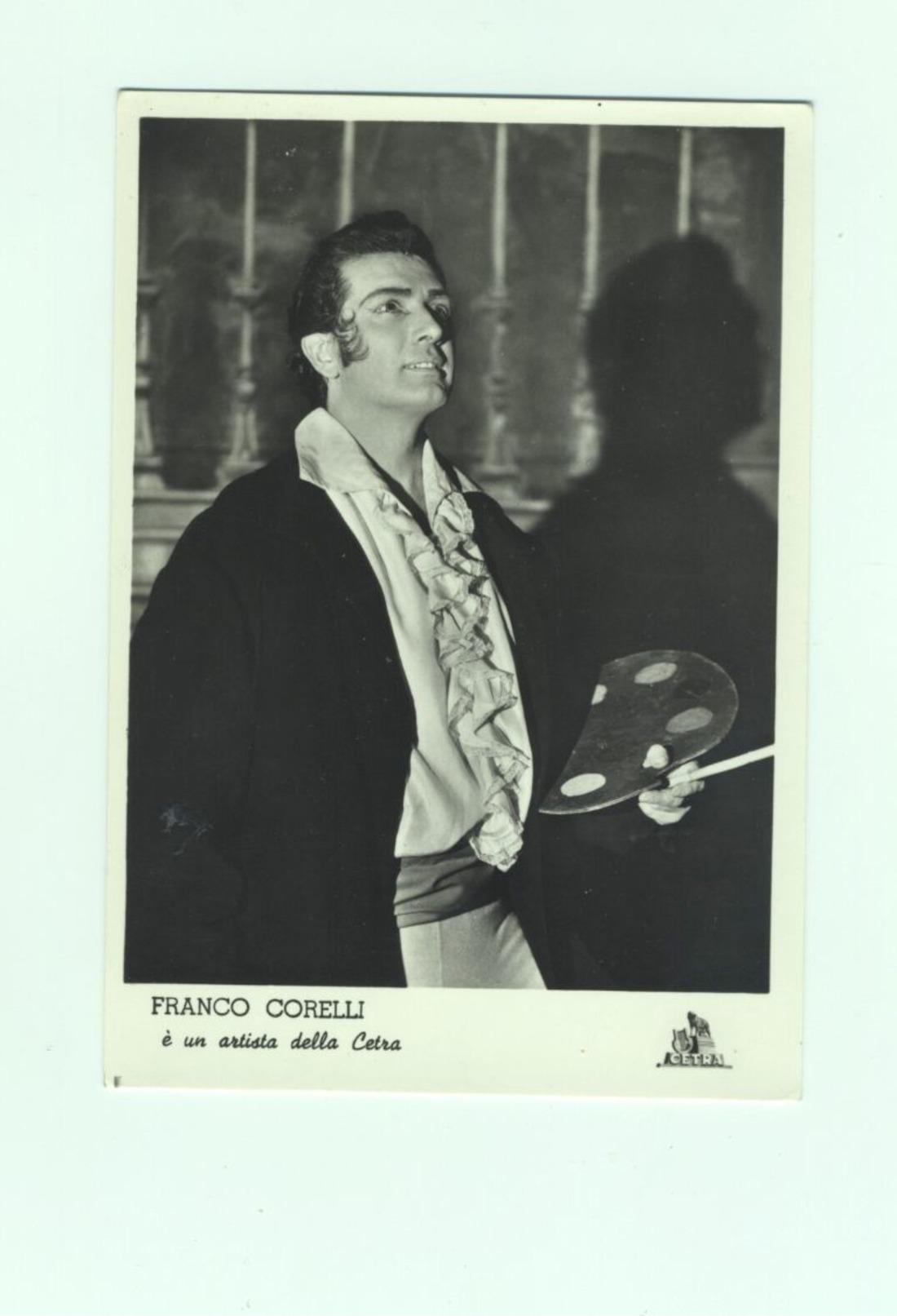 Cartolina FRANCO CORELLI Tenore Di Ancona - Singers & Musicians