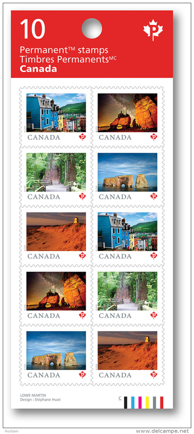 CANADA 2018.   FROM FAR & WIDE ( TERRE DE NOS AIEUX)  BKLET Of 10 - Full Booklets