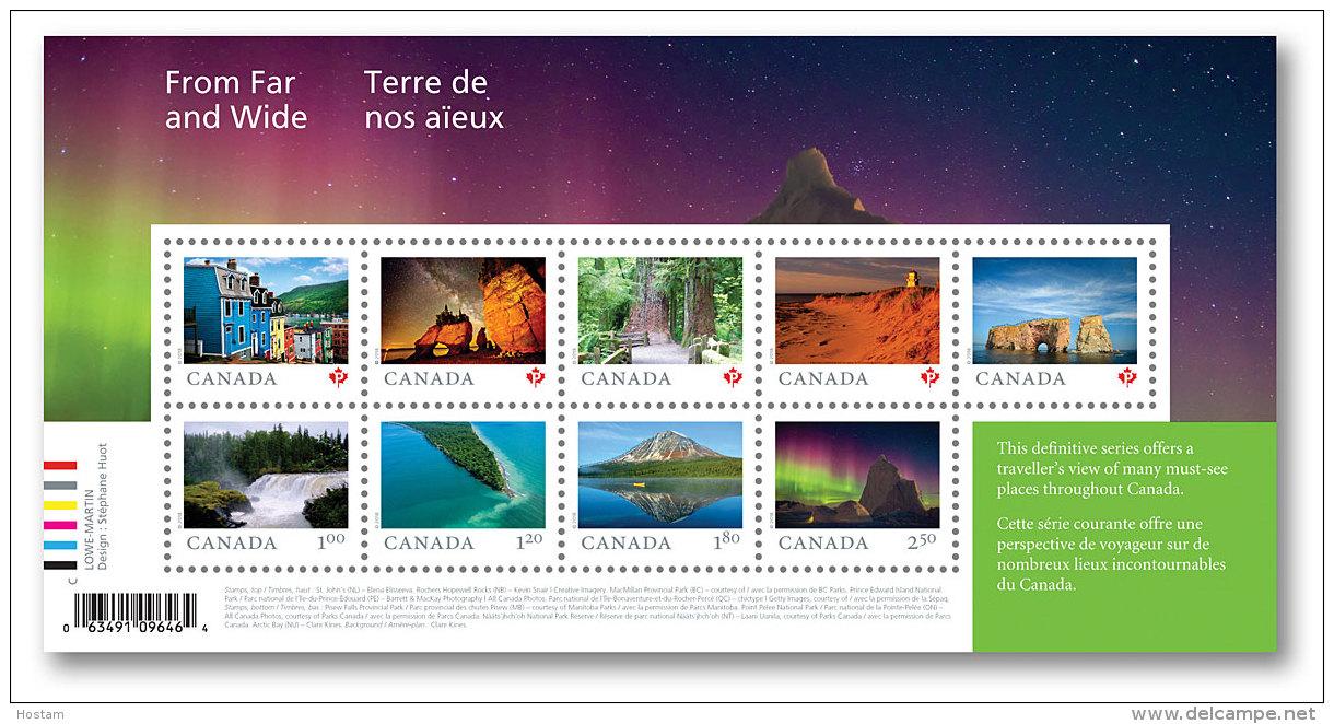 CANADA 2018.   FROM FAR & WIDE ( TERRE DE NOS AIEUX)    SOUVENIR SHEET - Blocks & Sheetlets