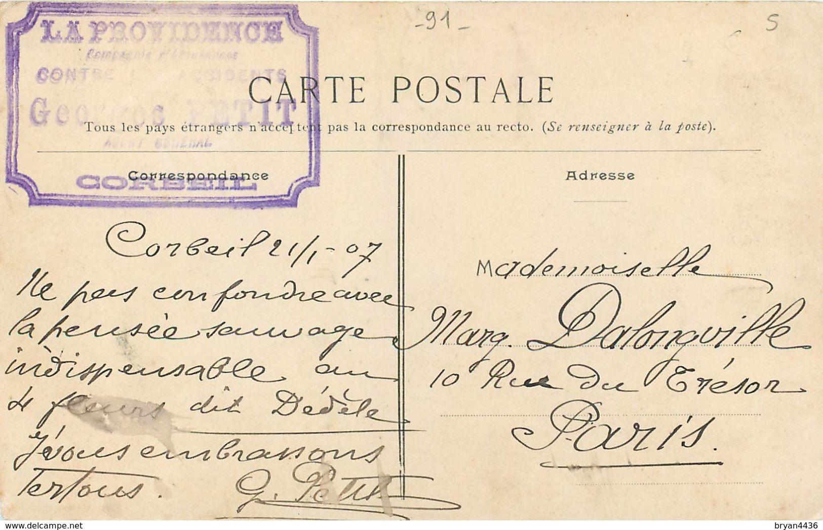 91 - UNE PENSEE DE CORBEIL - ESSONNE - VOIR SCANS - Corbeil Essonnes