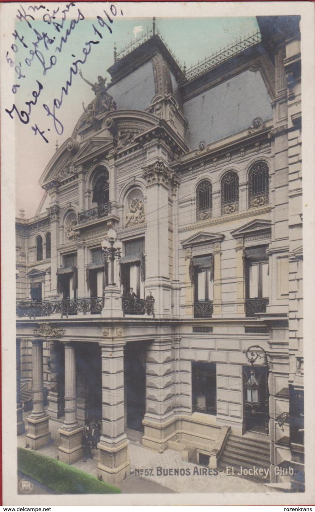 Argentina Argentine El Jockey Club Fotokaart Photo Card 1910 (In Very Good Condition) Chromatography Argentinie - Argentine