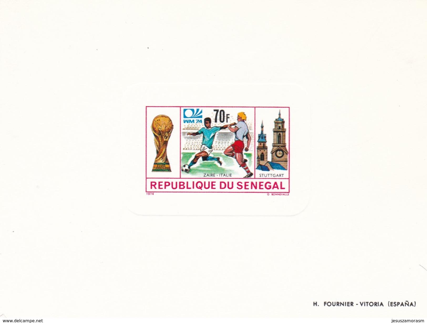 Senegal Nº 401 Al 404 En PRUEBAS - Copa Mundial
