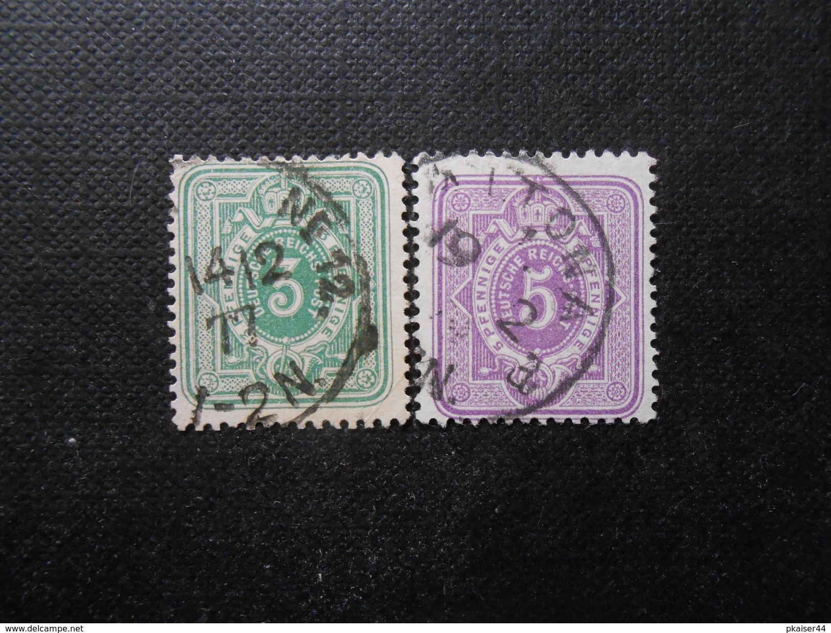D.R.Mi 31a/32 - 3/5Pf(e)  1875 - Mi 12,00 € - Germany