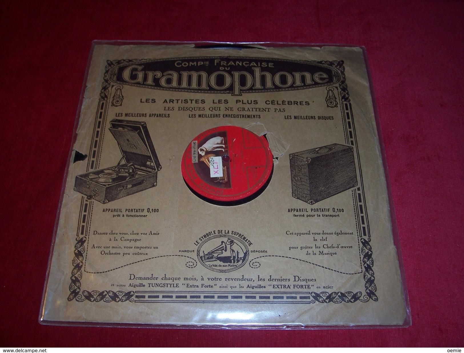 ENRICO CARUSO   ° T' M ARRICORDO  E NAPULE  EN NAPOLITAIN  ° VINYLE 1 FACE   DOS GRAVE  GRAMOPHONE - 78 T - Disques Pour Gramophone