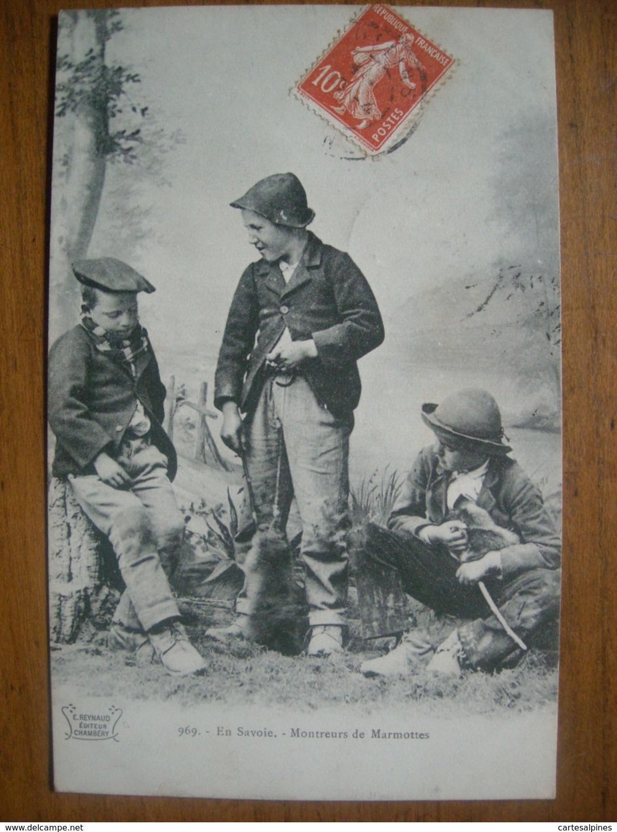 (enfants) En Savoie. Montreurs De Marmottes, 1909, TBE. - Non Classés