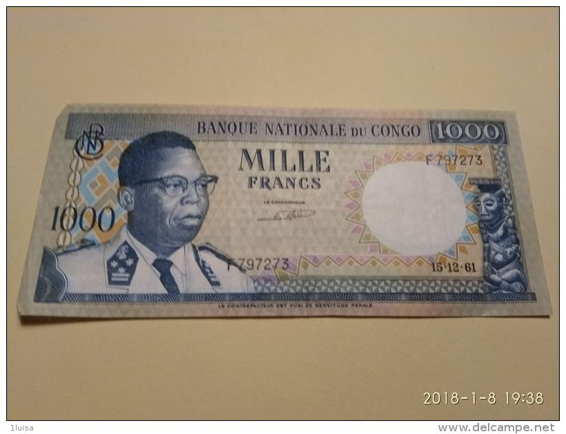 1000 Francs 1964 - Republic Of Congo (Congo-Brazzaville)