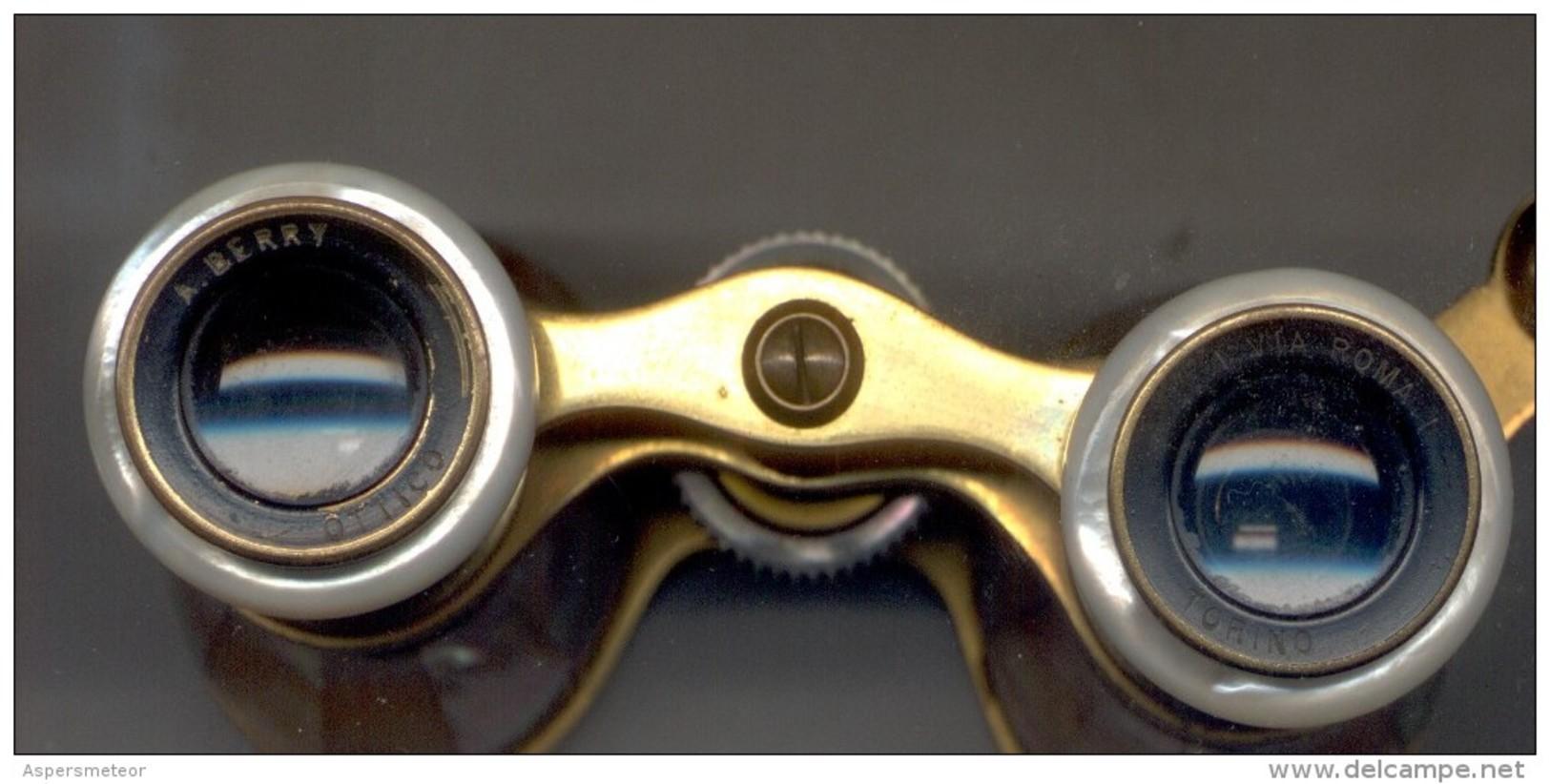 BINOCULARE BINOCULARES CIRCA 1880 - ACHILLE BERRY - VIA ROMA NRO. 1 TORINO - ITALIA TRES BON ETAT - Tools