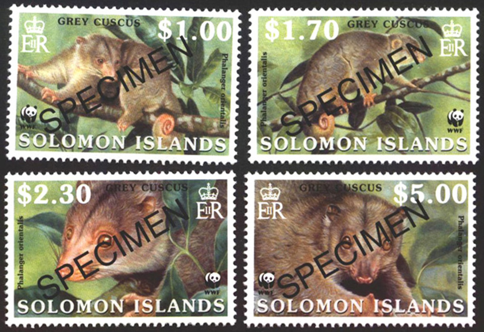 SOLOMON ISLANDS STAMPS, SET @F 4, FAUNA, WWF, SPECIMEN, MNH - Solomon Islands (1978-...)