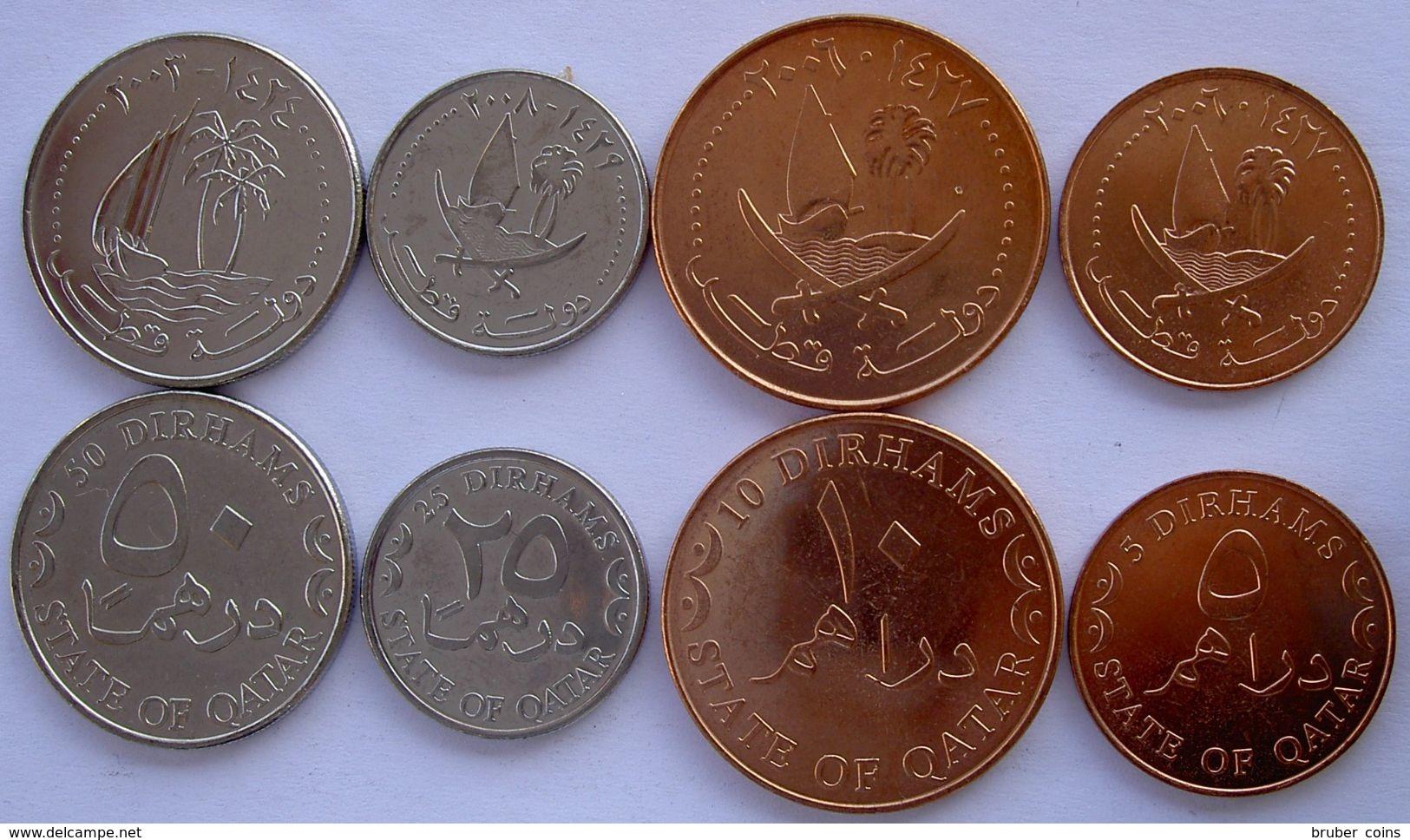 QUATAR 2012 SERIE 4 MONETE 50-25-10-5 DIRHAMS NEW FDC - Qatar