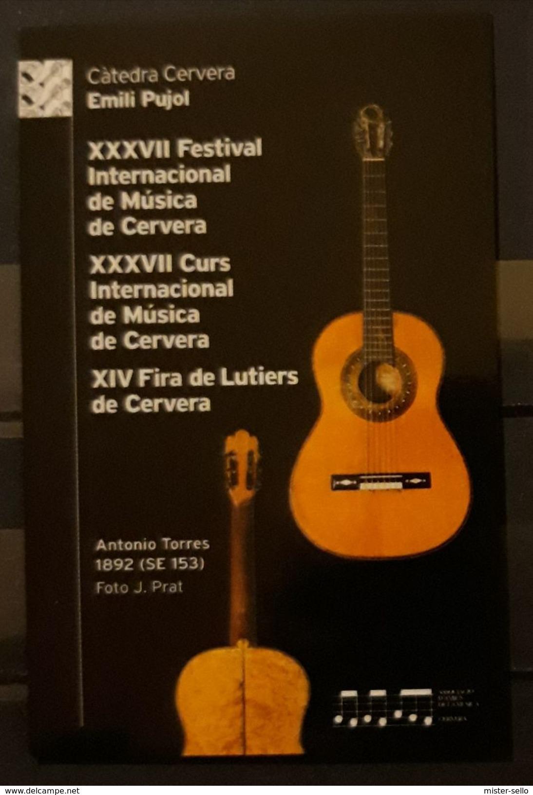 ESPAÑA 2018. CALENDARIO XXVII FESTIVAL INTERNACIONAL DE MÚSICA DE CERVERA. - Calendarios