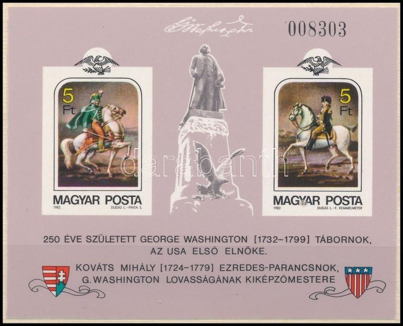 ** 1982 Washington Vágott Blokk (3.500) - Stamps