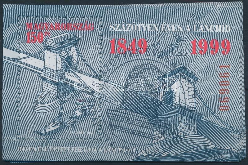 O 1999 Lánchíd (IV.) 10 Db Blokk Elsőnapi Bélyegzéssel (10.000) - Unclassified