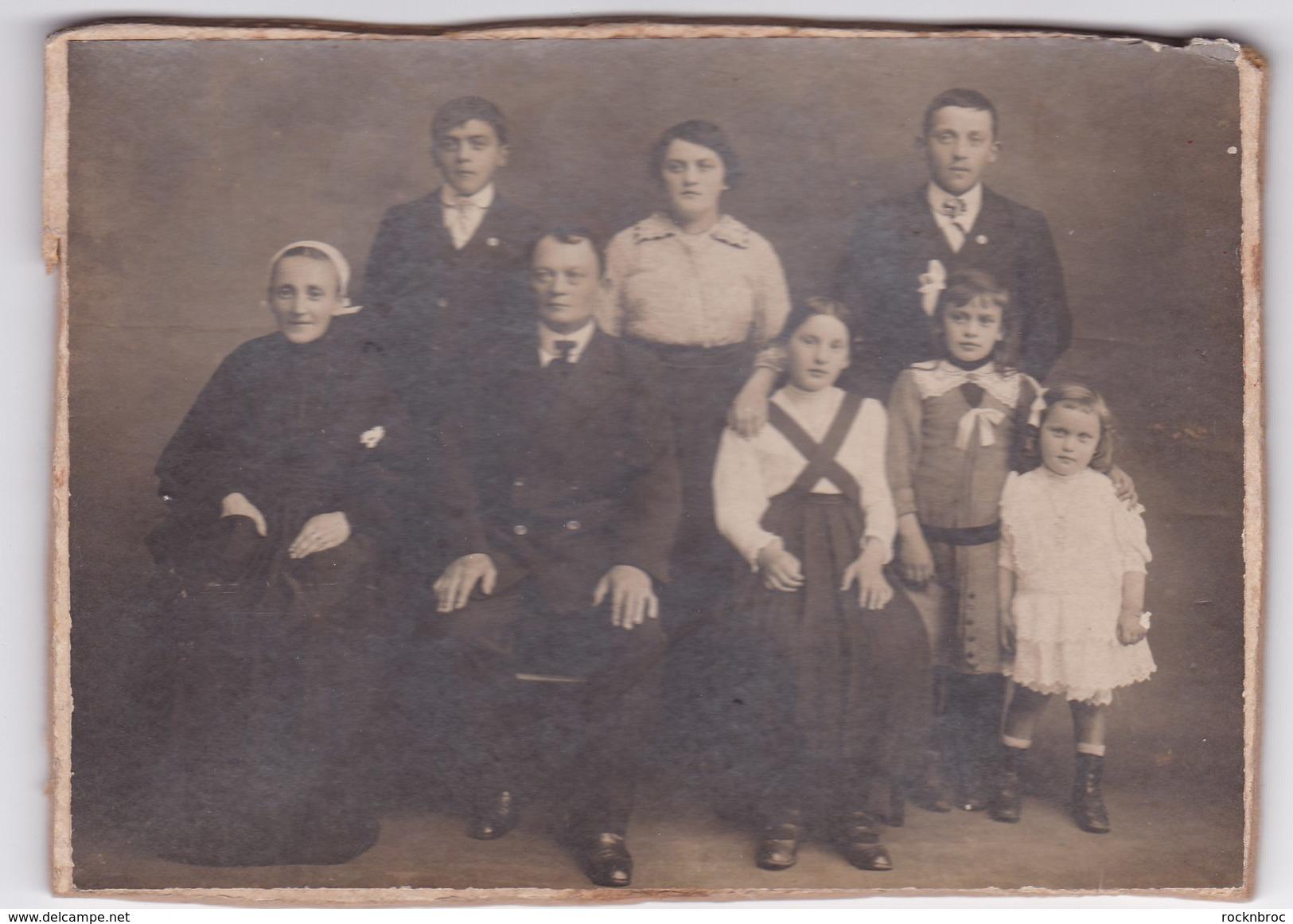 Ancienne Photo Famille Bretagne Finistère Douarnenez ? - Personnes Anonymes
