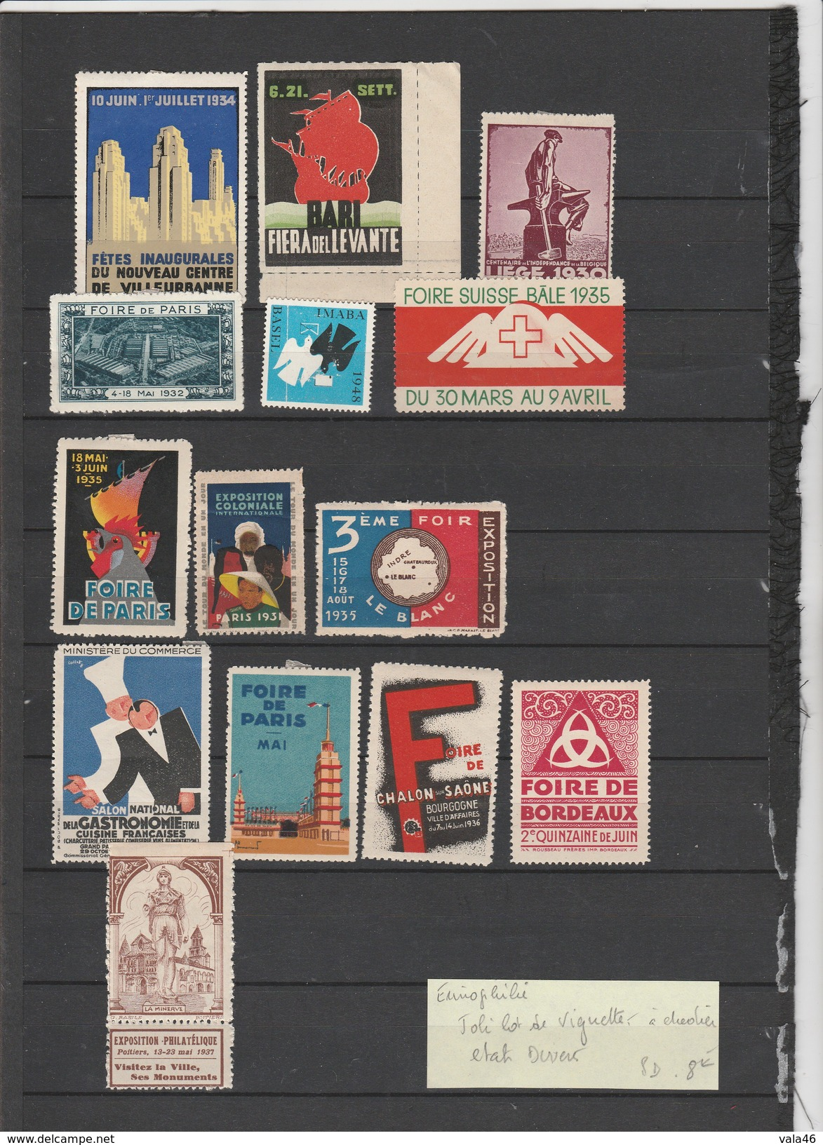 JOLI LOT DE VIGNETTE A ETUDIER - Commemorative Labels