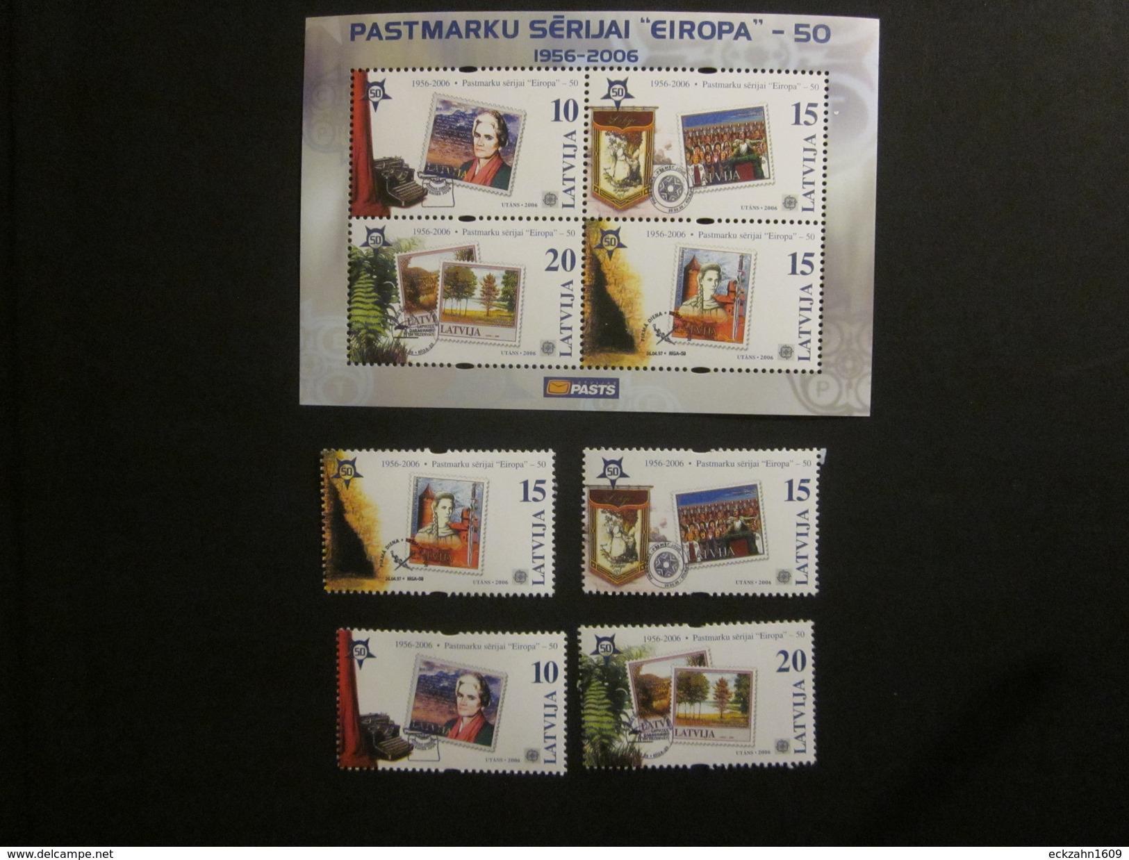 Lettland Block 21 + Nr. 652 - 655  Postfrisch** / MNH / Europa CEPT - 2005