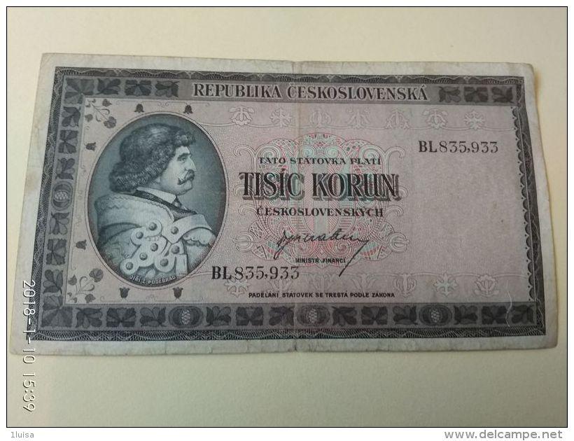 1000 Korun 1946 - Tsjechoslowakije